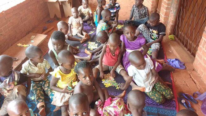 Los niños recogidos por el Obispado de Bangassou