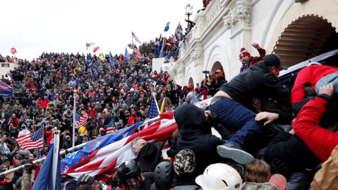 Violencia y odio en el Capitolio estadounidense
