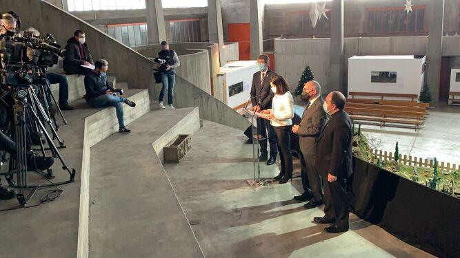 Elizalde cierra un acuerdo con Gobierno Vasco, Diputación Foral de Álava y Ayuntamiento de Vitoria para acoger el memorial del 3 de marzo en la iglesia de San Francisco de Asís