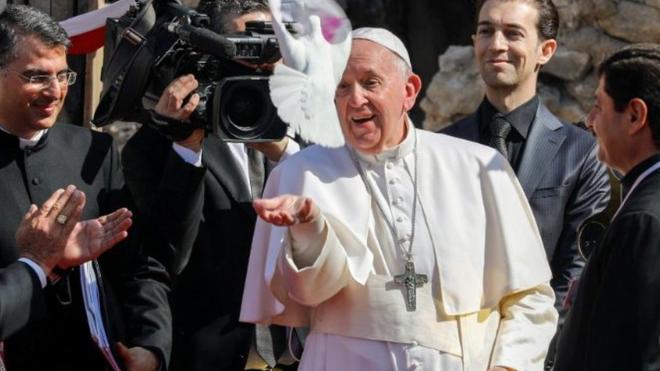 El Papa, en Mosul