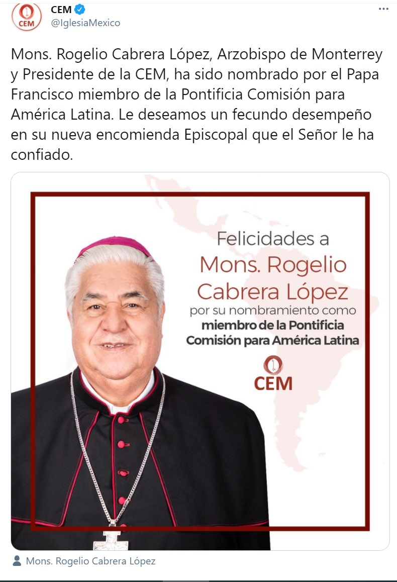 Mons. Cabrera Pontificio Consejo