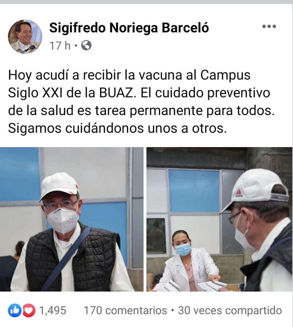 Obispo Noriega vacuna