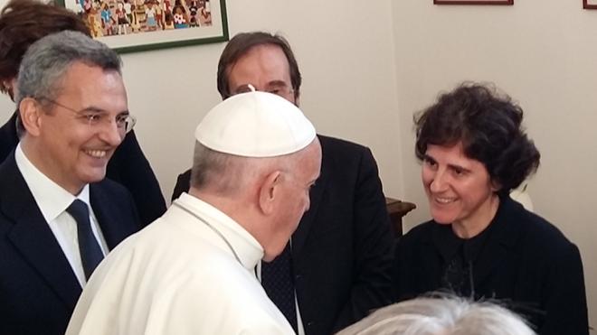 El Papa saluda a Tíscar