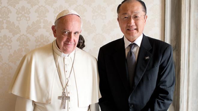El Papa y el presidente del Banco Mundial