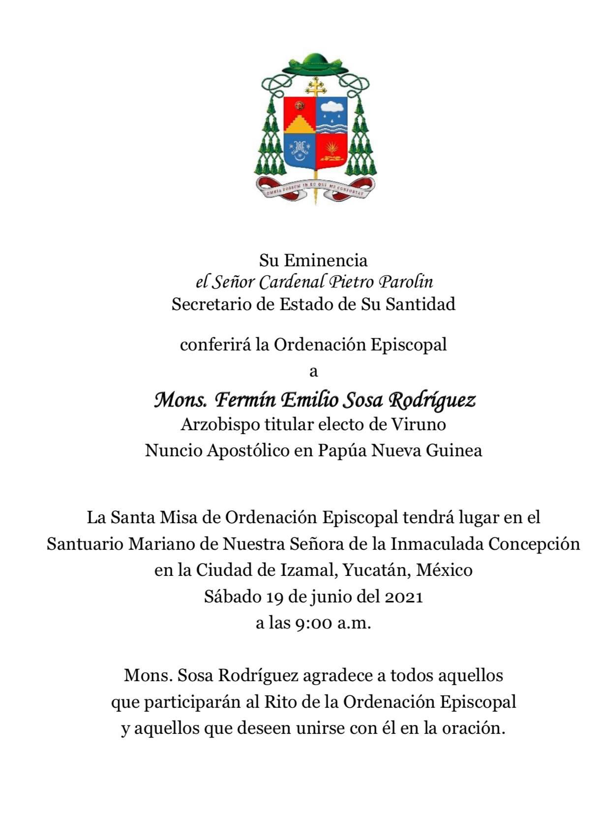 invitación ordenación sosa