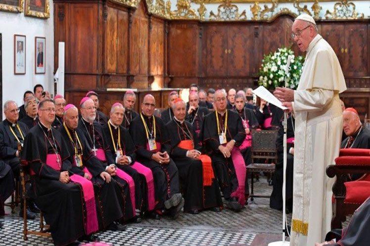 Obispos chilenos con el Papa Francisco