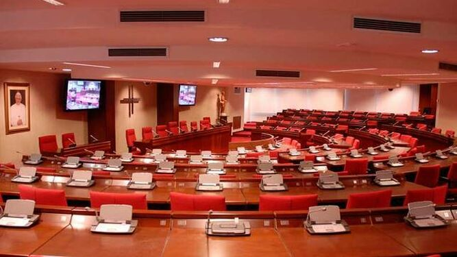 La sala de la Plenaria, vacía