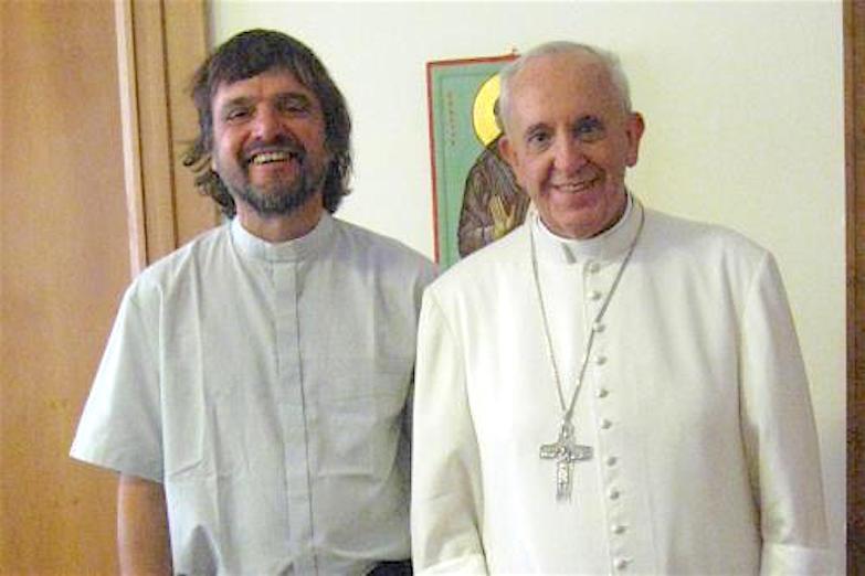Pepe Di Paola con Francisco