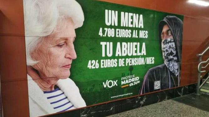 La Iglesia de Madrid, contra los carteles xenófobos de VOX