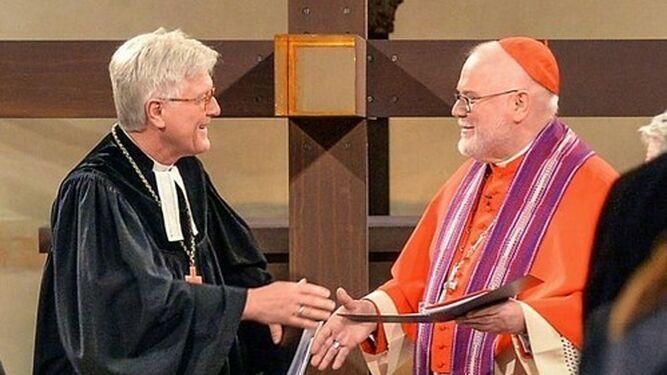 El Arzobispo Reinhard Marx y el Obispo Heinrich Bedford-Strohm en 2017.