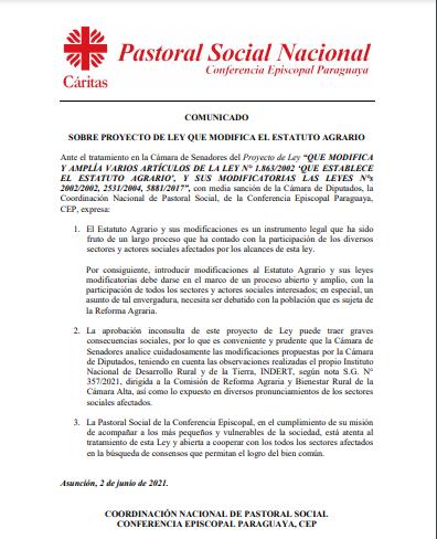 Pastoral Social Paraguay