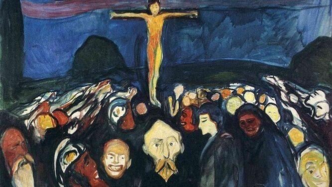 Niño crucificado por los abusos