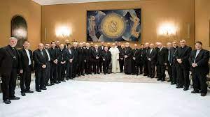 Obispos chilenos con el Papa 1