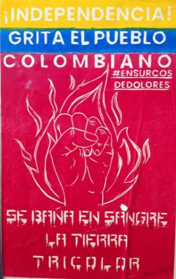 afiche paro nacional colombia