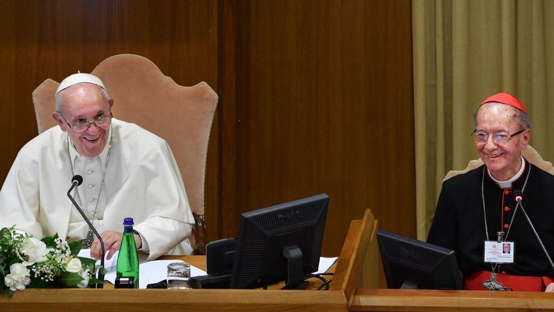 Papa Francisco con el cardenal Hummes