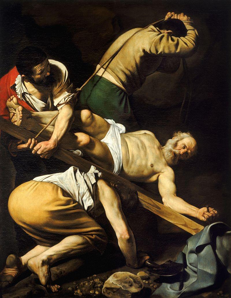 La cricifixión de Pedro - Caravaggio