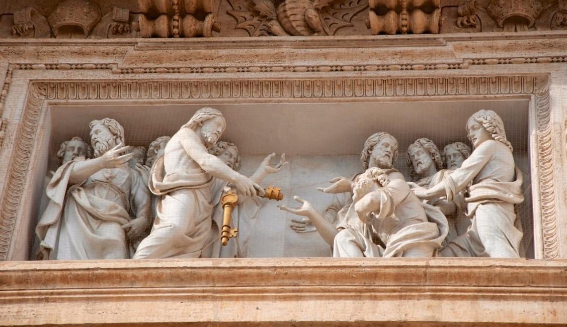 consegna delle chiavi faciata basilica