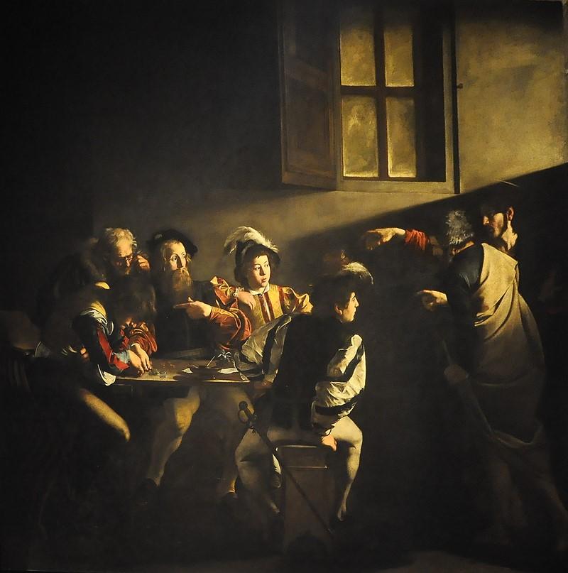 la vocación de Mateo - Caravaggio