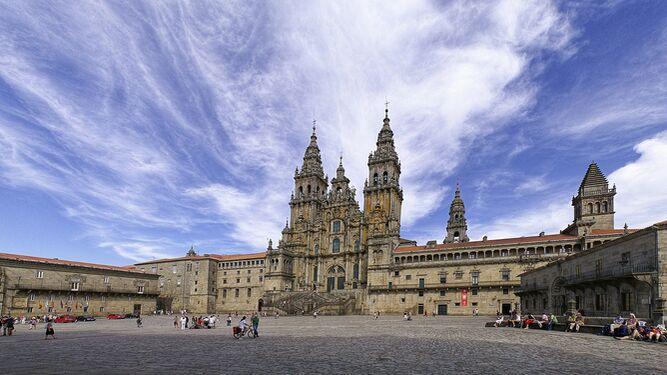 Panoramica Catedral de Santiago de Compostela.