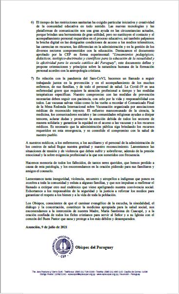 Asamblea Obispos Paraguay
