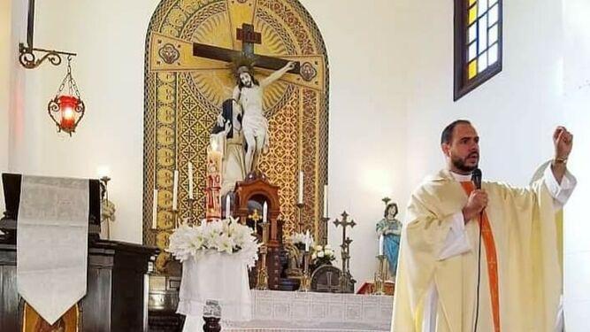 De la Trinidad, en una misa.
