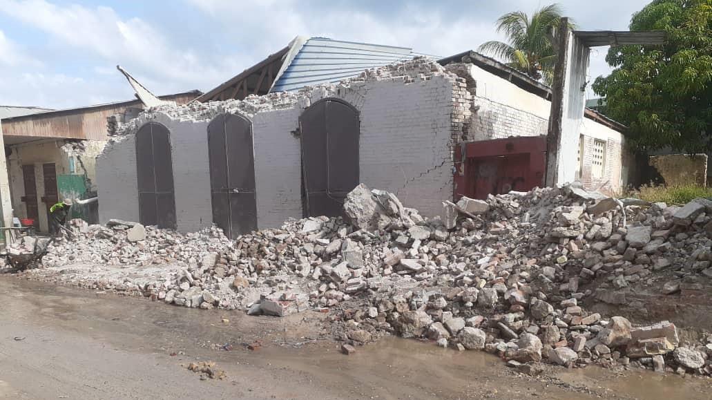 Destrucción en Haití