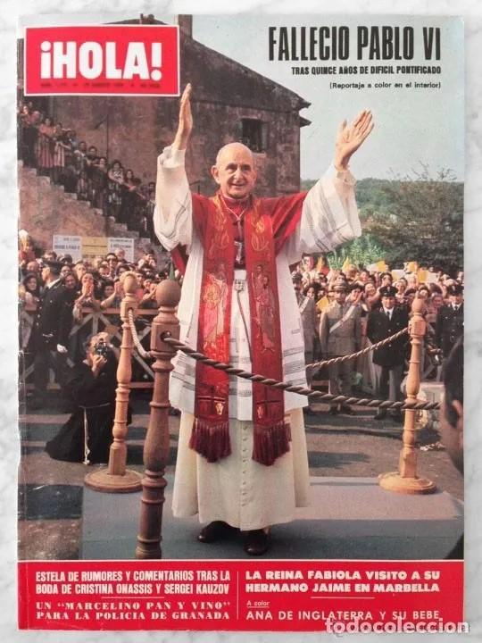 Aviso de la muerte de Pablo VI