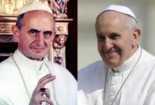 Pablo VI y Francisco