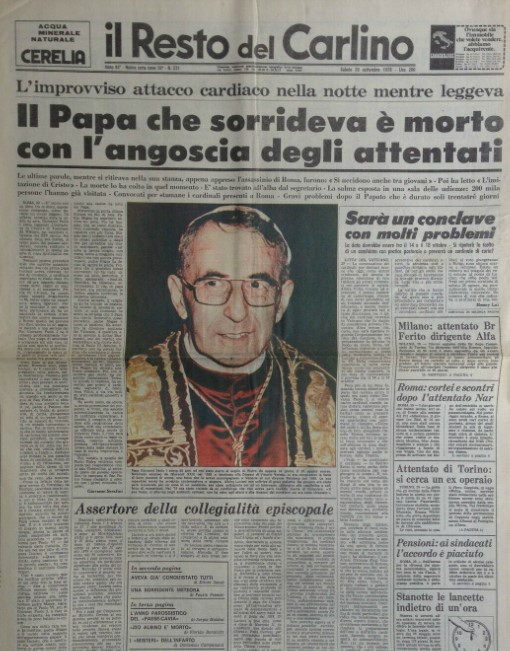 muerte de papa Luciani