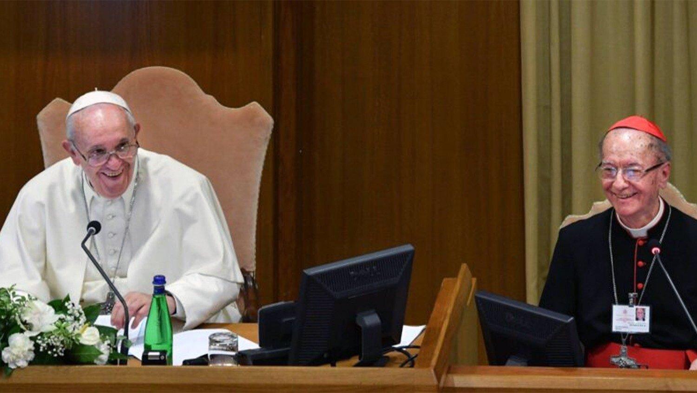Cardenal Hummes con el Papa Francisco