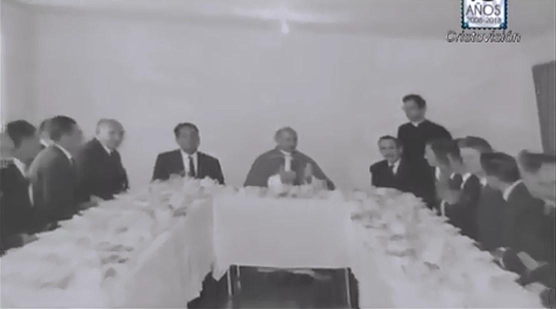 PABLO VI DESAYUNO EN VENECIA 1968