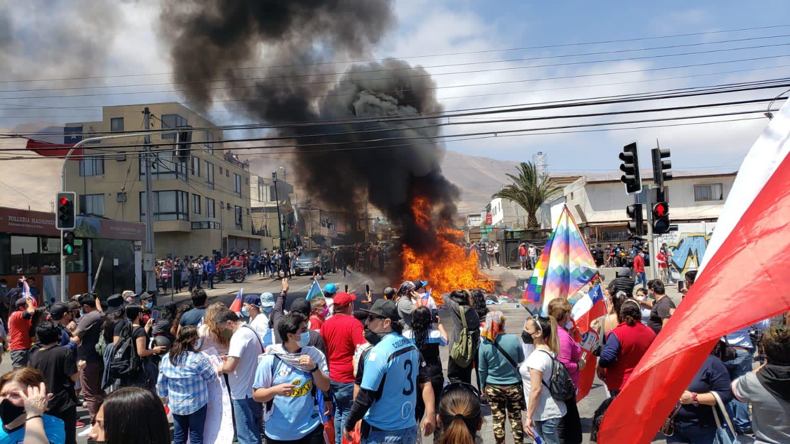 Ataques a migrantes en Iquique
