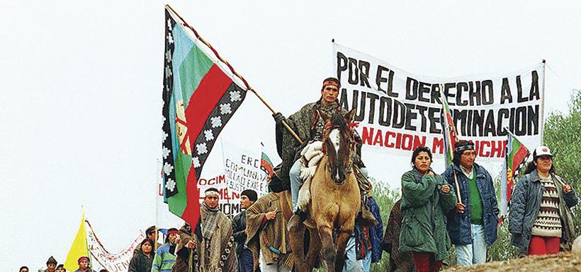 Manifestación pueblo Mapuche
